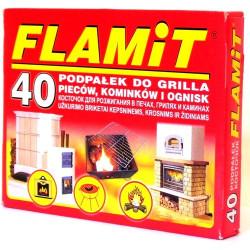 Rozpałka do grilla opakowanie 40 kostki białe FLAMIT