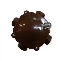 Puszka hermetyczna A.0035BR IP67 PG16 (5x4) brązowa