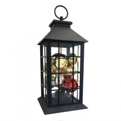 Latarenka dekoracyjna LED czarna z bąbkami 312815 3xAAA POLUX