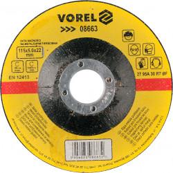 Tarcza do szlifowania metalu 115x6.0x22mm 08663 VOREL