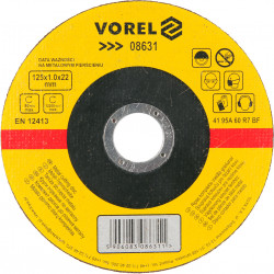 Tarcza do cięcia metalu 125x1.0x22mm VOREL 08631