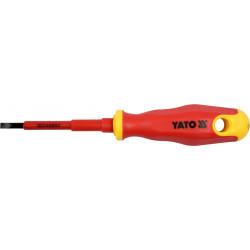 Wkrętak płaski 4.0x75mm izolowany 1000V YT-2816 YATO