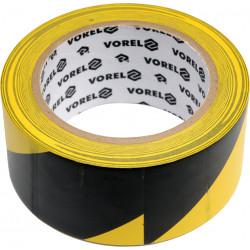 Taśma ostrzegawcza klejąca żółto-czarna 33m 75231 VOREL