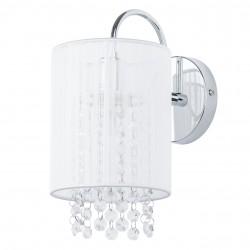 Lampa kinkiet kryształki LANA White E14 40W Italux