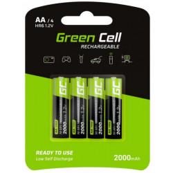 Akumulatorki 4xAA HR6 2000mAh Green Cell GR02