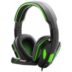 Słuchawki przewodowe z mikrofonem SNAKE EGH340 green ESPERANZA