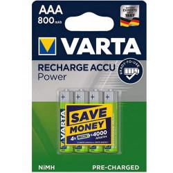 Akumulatorki VARTA Longlife R3 800mAh 56703 opakowanie 4 sztuk VARTA