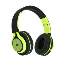 Słuchawkibezprzewodowe z mikrofonem AP-B04-G czarno-limonkowe ART