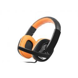 Słuchawki z mikrofonem KINGFISHER ORANGE NSL-0712 NATEC