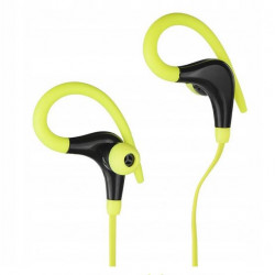 Słuchawki z mikrofonem AP-BX61-G limonkowe Sport ART