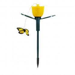 Lampka solarna LED Tulipan + Motyl latający SG3A3T