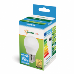 Żarówka LED kulka E27 4W 230V b.zimna Spectrum