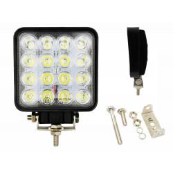 Lampa robocza 16LED 48W kwadratowa WL5048 12/24V