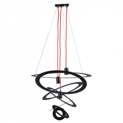 Lampa K-3461 zwis III czarn+czerw opl. 3xE27 Kaja