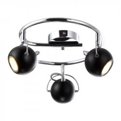 Lampa plafon K-8002-3G BK black 3xGU10 3W Kaja