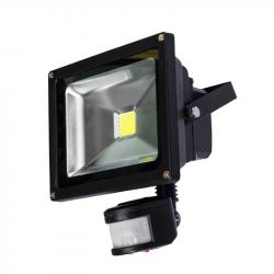 Naświetlacz LED 50W PIR 3000K black NOCTI