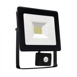 Naświetlacz LED NOCTIS LUX 10W CW +sensor black