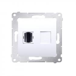 Simon54 Gniazdo HDMI DGHDMI.01/11 białe