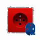 Basic Gniazdo 1-krot.z/u z kluczem upr BMGD1.01/22