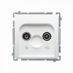 Basic Gniazdo ant.R-TV końcowe BMZAR1/1.01/11 biały