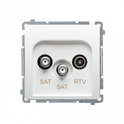 Basic Gniazdo antenowe RTV/SAT/SAT BMZAR+SAT3.1-P2 biały