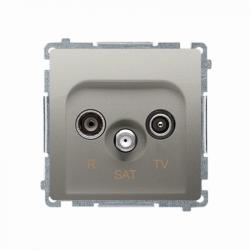 Basic Gniazdo RTV-SAT BMZAR-SAT1.3/1.01/29 satyna