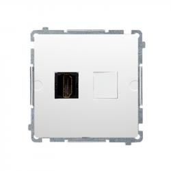 Basic Gniazdo HDMI BMGHDMI.01/11 białe