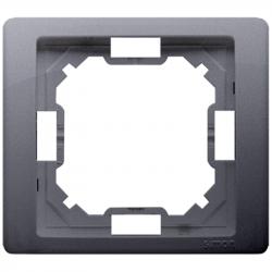 Basic Neos ramka 1-krotna BMRC1/43 srebrny