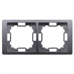 Basic Neos ramka 2-krotna BMRC2/43 srebrny