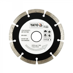 Tarcza diamentowa segmentowa 125mm YT-6003 Yato