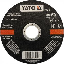 Tarcza do cięcia stali nierdzewnej YT-6101 YATO