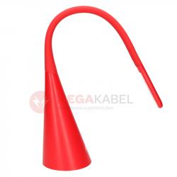 Lampka biurkowa DEL-1511 czerwony mat LED 5,5W USB