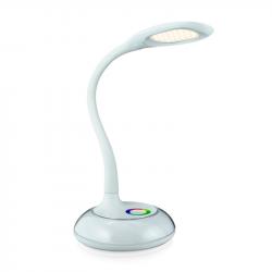 Lampka biurkowa LED RGB COSMOS 2 biała 6.5W Polux