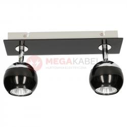 Lampa MATT-2R B/CH black-chrome GU10 2x50W Vitalux