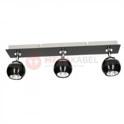 Lampa MATT-3R B/CH black-chrome GU10 3x50W Vitalux