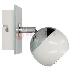 Kinkiet MATT-1R W/CH white-chrome GU10 50W Vitalux