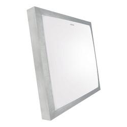 Lampa plafon ALEX LED 12W 4000K alu.silver/white