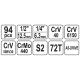 """Zestaw narzędziowy 1/2"""" 94 części YT-12681 YATO"""