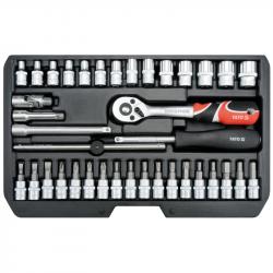 """Zestaw narzędzi 1/4"""" kpl. 38cz. YT-14471 YATO"""