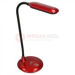 Lampka biurkowa LED K-BL1208 5W czerwona Kaja