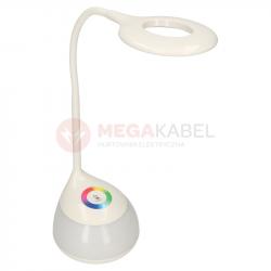 Lampka biurkowa LED GALACTIC biała 5W RGB Aku