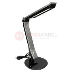 Lampa biurkowa PLH K-MT1315 13W black/silver Kaja