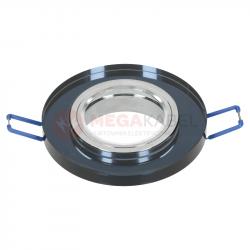 Oczko sufitowe INGLES black szkło okrągłe LL3203