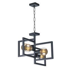 Lampa wisząca kwadraty IV K-4036 black E27 Kaja