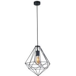 Lampa wisząca I K-4000 black oplot E27 Kaja