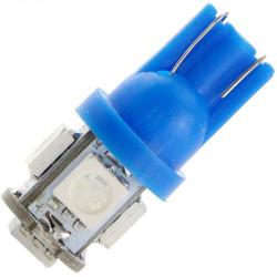 Żarówka samochodowa LED T10 W5W 5 SMD NIEBIESKA