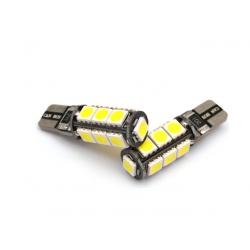 Żarówka samochodowa LED T10 W5W 13 SMD 5050 CAN BU