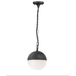 Lampa ogrodowa ULSA wisząca czarna IP44 E27 Polux