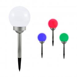 Lampa solarna KULA RGB 20 inox 20cm CW 309303