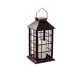 Lampa ogrodowa LATARENKA patynowa solar 27cm Polux
